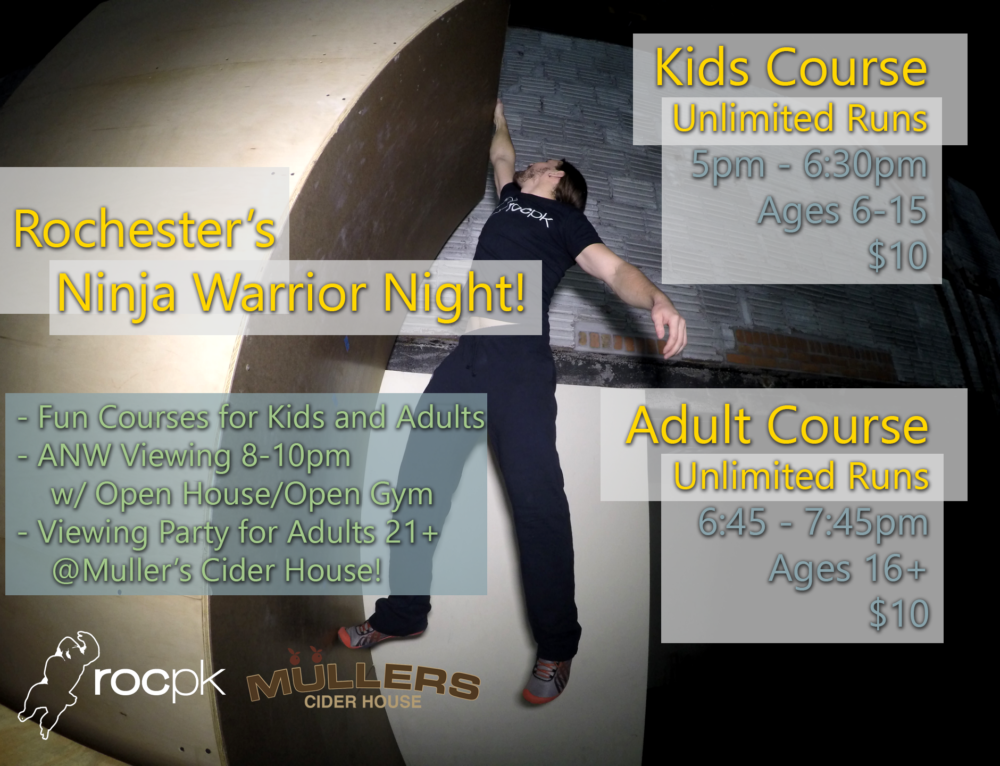 Rochester's Ninja Warrior Night!