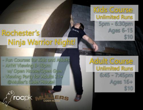 Rochester's Ninja Warrior Night!